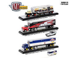 Auto Haulers Release 25, 3 Trucks Set 1/64 Diecast Models by M2 Machines