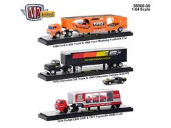 Auto Haulers Release 30, 3 Trucks Set 1/64 Diecast Models by M2 Machines