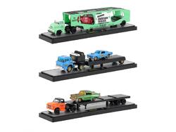 Auto Haulers Release 33, 3 Trucks Set 1/64 Diecast Models by M2 Machines