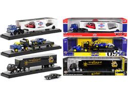 Auto Haulers Release 34, 3 Trucks Set 1/64 Diecast Models by M2 Machines