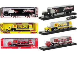 Auto Haulers Release 35, Set of 3 Trucks 1/64 Diecast Models by M2 Machines