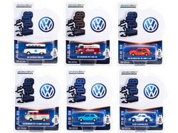 """""""Club Vee V-Dub"""" Set of 6 pieces Series 12 1/64 Diecast Model Cars by Greenlight"""