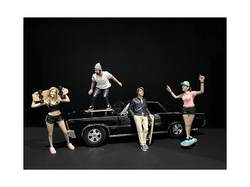 Skateboarders Figurines 4 piece Set for 1/18 Scale Models by American Diorama