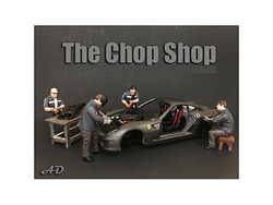 """""""Chop Shop"""" 4 piece Figurine Set for 1/24 Scale Models by American Diorama"""