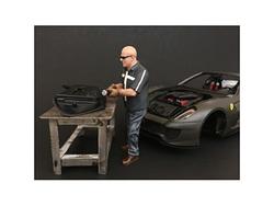 """Chop Shop"" Mr. Fabricator Figurine for 1/24 Scale Models by American Diorama"