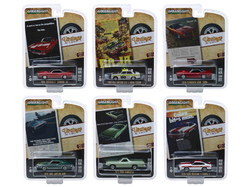 """""""Vintage Ad Cars"""" 6 piece Set Series 1 1/64 Diecast Model Cars by Greenlight"""