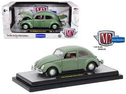 1952 Volkswagen Beetle Deluxe Pastel Green 1/24 Diecast Model Car by M2 Machines