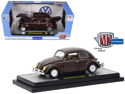 1952 Volkswagen Beetle Deluxe Model Pearl Brown Limited Edition to 5,800 pieces Worldwide 1/24 Diecast Model Car by M2 Machines