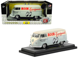 """1960 Volkswagen Delivery Van """"Moon Equipped"""" Light Blue with White Top Limited Edition to 5,880 pieces Worldwide 1/24 Diecast Model by M2 Machines"""