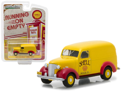 "1939 Chevrolet Panel Truck Shell Oil ""Running on Empty"" Series 4 1/64 Diecast Model Car by Greenlight"