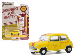 "1959 Austin Seven ""Shell Oil"" Yellow with Red Stripe ""Running on Empty"" Series 11 1/64 Diecast Model Car by Greenlight"