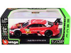 """Audi RS 5 #33 Rene Rast DTM Deutsche Tourenwagen Masters (2018) """"Race Car"""" Series 1/32 Diecast Model Car by Bburago"""