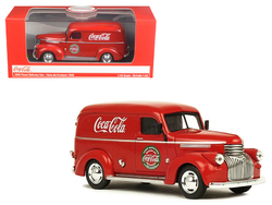 """1945 """"Coca-Cola"""" Panel Delivery Van Red 1/43 Diecast Model Car by Motorcity Classics"""
