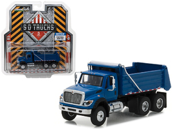 2017 International Workstar Construction Dump Truck Blue S.D. Trucks Series 3 1/64 Diecast Model by Greenlight