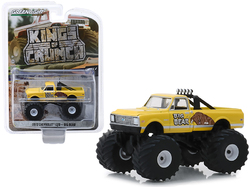 "1972 Chevrolet C20 Monster Truck ""Big Bear"" Yellow ""Kings of Crunch"" Series 4 1/64 Diecast Model Car by Greenlight"