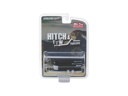 "Livestock Trailer Black ""Hitch & Tow Trailers"" Series Limited Edition to 2300 pieces Worldwide 1/64 Diecast Model by Greenlight"