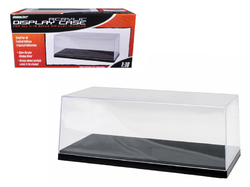 Collectible Display Show Case for 1/18-1/24 Scale Model Cars with Black Plastic Base by Greenlight