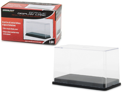 Collectible Display Show Case with Black Plastic Base for 1/64 Scale Model Cars by Greenlight