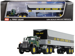 """Mack B-61 Day Cab with 40' Vintage Trailer """"Lee Way Motor Freight, Inc."""" 30th in a """"Fallen Flag Series"""" 1/64 Diecast Model by DCP/First Gear"""