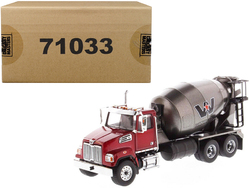 Western Star 4700 SF Concrete Mixer Truck Metallic Red with Gray Body 1/50 Diecast Model by Diecast Masters