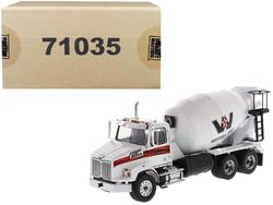 Western Star 4700 SB Concrete Mixer Truck White 1/50 Diecast Model by Diecast Masters