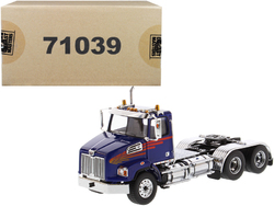 Western Star 4700 SB Tandem Day Cab Tractor Blue 1/50 Diecast Model by Diecast Masters