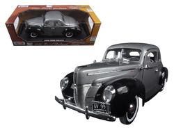 "1940 Ford Deluxe Grey with Black ""Timeless Classics\"" 1/18 Diecast Model Car by Motormax"