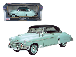 1950 Chevrolet Bel Air Green 1/18 Diecast Model Car by Motormax