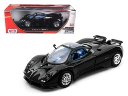 Pagani Zonda C12 Black 1/18 Diecast Car Model by Motormax
