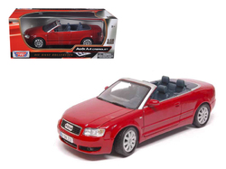 Audi A4 Red Convertible 1/18 Diecast Model Car by Motormax
