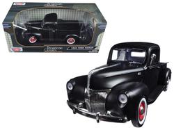 1940 Ford Pickup Matt Black 1/18 Diecast Model Car by Motormax
