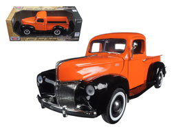 "1940 Ford Pickup Truck Orange ""Timeless Classics"" 1/18 Diecast Model by Motormax"