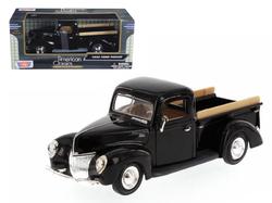 1940 Ford Pickup Truck Black 1/24 Diecast Model Car by Motormax
