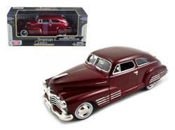 1948 Chevy Aerosedan Fleetline Metallic Dark Red 1/24 Diecast Model Car by Motormax