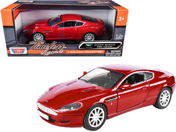 "Aston Martin DB9 Coupe Red ""Timeless Legends"" 1/24 Diecast Model Car by Motormax"
