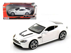 Aston Martin V12 Vantage Pearl White 1/24 Diecast Car Model by Motormax