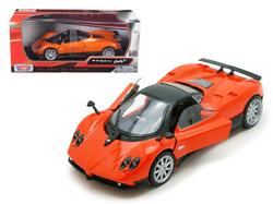 Pagani Zonda F Orange 1/24 Diecast Car Model by Motormax