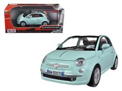 Fiat 500 Nuova Cabrio Green 1/24 Diecast Model Car by Motormax