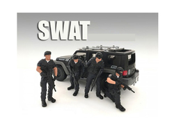 SWAT Team 4 Piece Figure Set For 1:18 Scale Models by American Diorama