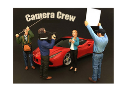 """""""Camera Crew"""" 4 piece Figurine Set for 1/18 Scale Models by American Diorama"""