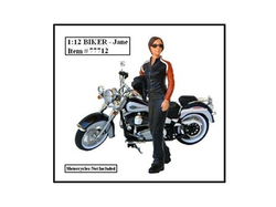 Biker Jane Figure For 1:12 Models by American Diorama