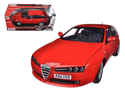Alfa 159 SW Red 1/18 Diecast Car Model by Motormax