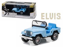 1963 Jeep CJ5 Sierra Blue Elvis Presley (1935-1977) 1/43 Diecast Model Car by Greenlight