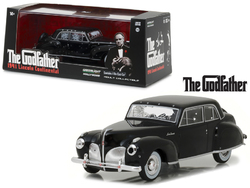 """1941 Lincoln Continental Black with Bullet Damage """"The Godfather"""" Movie (1972) 1/43 Diecast Model Car by Greenlight"""