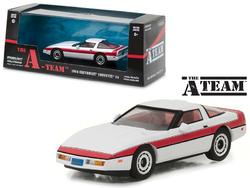 "1984 Chevrolet Corvette C4 ""The A Team"" 1983-1987 TV Series 1/43 Diecast Model Car by Greenlight"