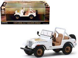 """1979 Jeep CJ-7 Golden Eagle """"Dixie"""" White 1/43 Diecast Model Car  by Greenlight"""