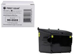 Refuse Trash Bin Black 1/34 Diecast Model by First Gear