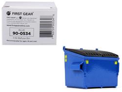 Refuse Trash Bin Blue 1/34 Diecast Model by First Gear