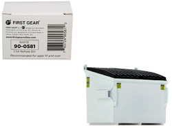 Refuse Trash Bin White 1/34 Diecast Model by First Gear