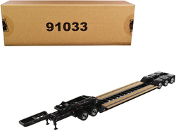 """XL 120 Low-Profile HDG Outrigger Style Trailer with Jeep and 2 Boosters """"Transport Series"""" 1/50 Diecast Model by Diecast Masters"""